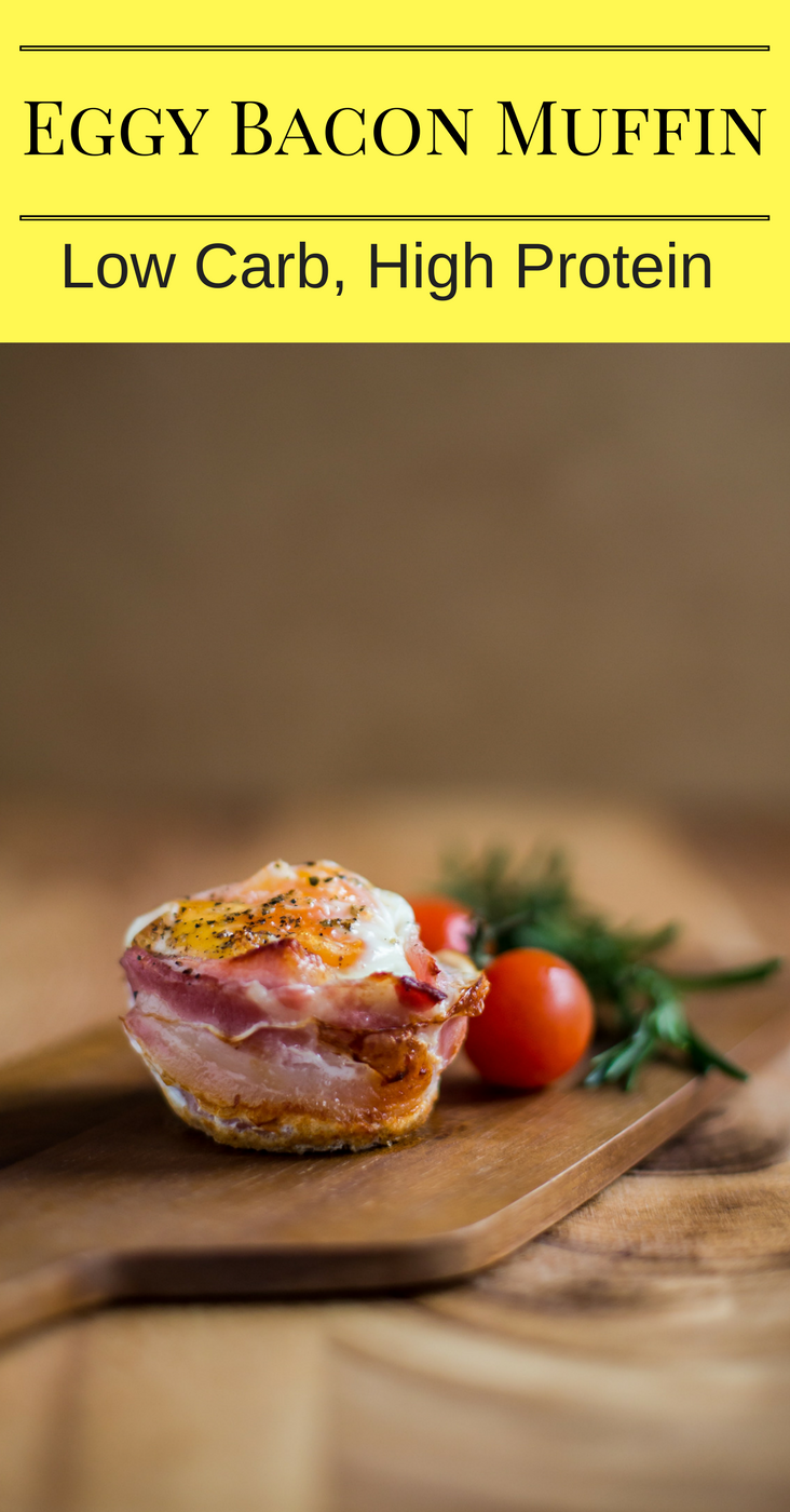 Eggy Bacon Muffin Low Carb High Protein Breakfast or Snack!