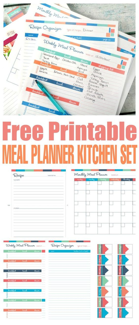 11 Super Pretty Amp Free Meal Planners For Busy Boss Babes