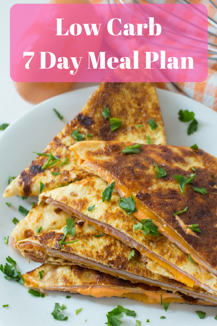 low carb meal plan pdf