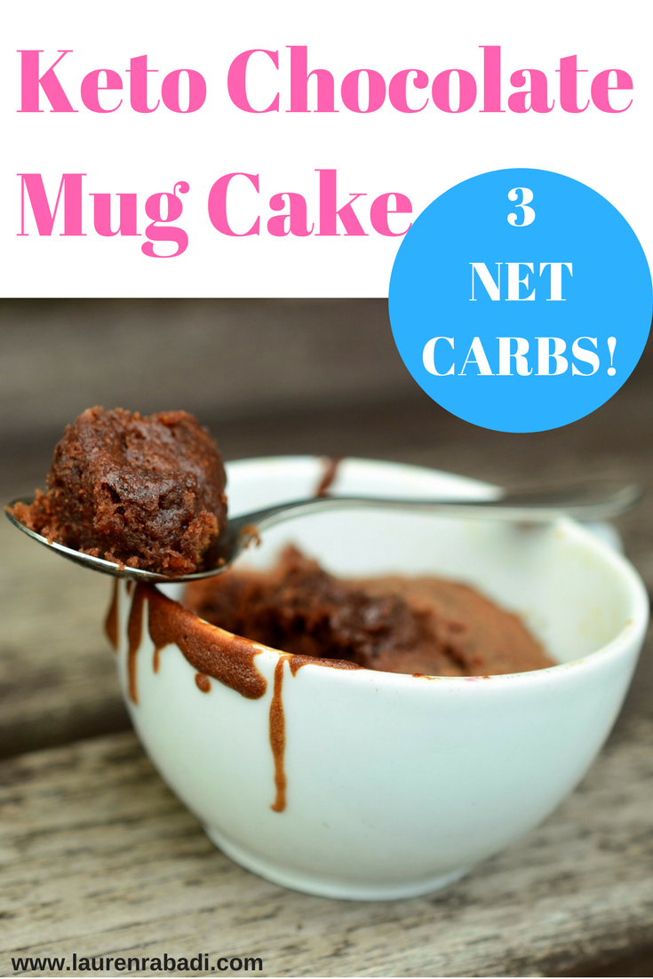 Keto Chocolate Mug Cake (ONLY 3 NET CARBS!)